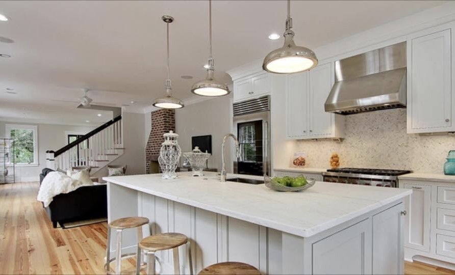 newly renovated interior of custom home by New Haven Construction