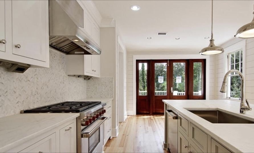 new custom remodeled kitchen in custom home by New Haven Construction