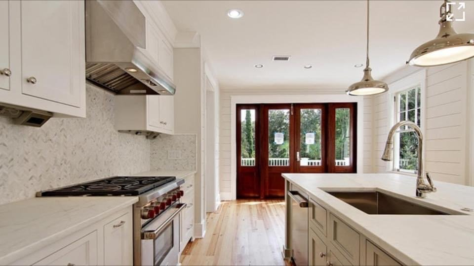 interior of new renovation of custom Charleston home