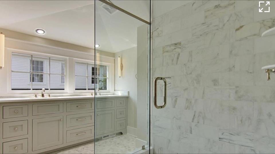 remodeled bathroom in custom home by New Haven Construction